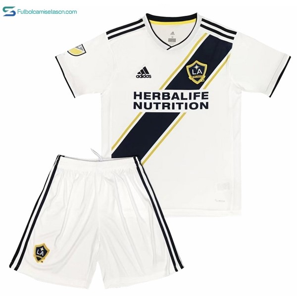 Camiseta Los Angeles Galaxy 1ª Niños 2017/18 Blanco