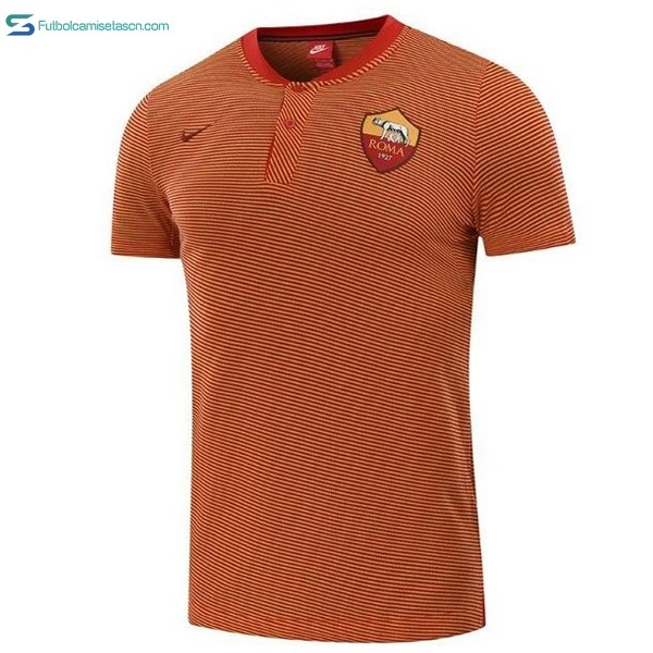 Polo AS Roma 2017/18 Naranja Marino