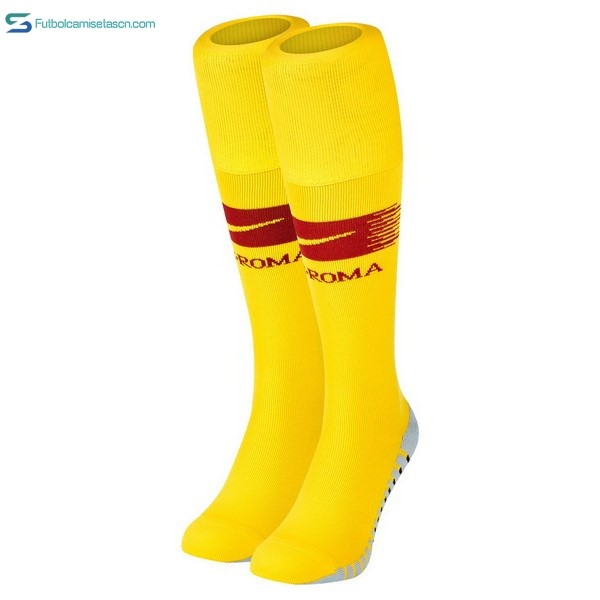 Calcetines As Roma 1ª 2018/19 Amarillo