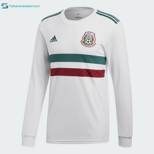 Camiseta Mexico 2ª ML 2018 Blanco