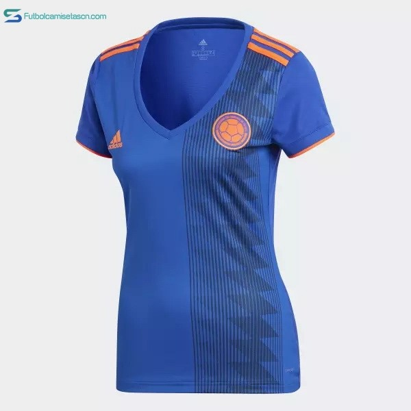 Camiseta Colombia 2ª Mujer 2018 Azul