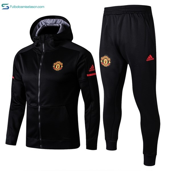 Chandal Manchester United 2017/18 Negro Gris