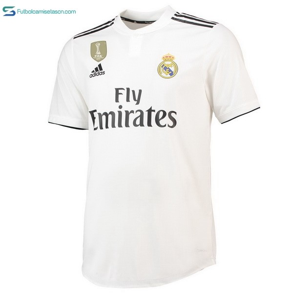 Tailandia Camiseta Real Madrid 1ª 2018/19 Blanco