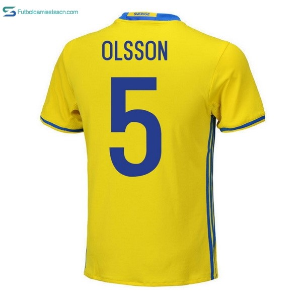 Camiseta Sweden 1ª Olsson 2018 Amarillo