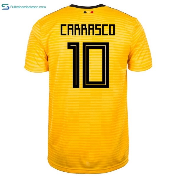 Camiseta Belgica 2ª Carrasco 2018 Amarillo
