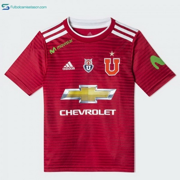 Camiseta Universidad De Chile 2ª 2018/19 Rojo