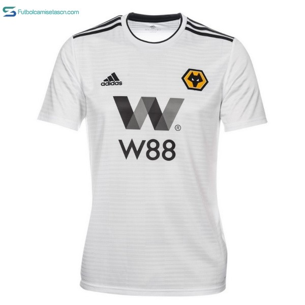 Camiseta Wolves 2ª 2018/19 Blanco