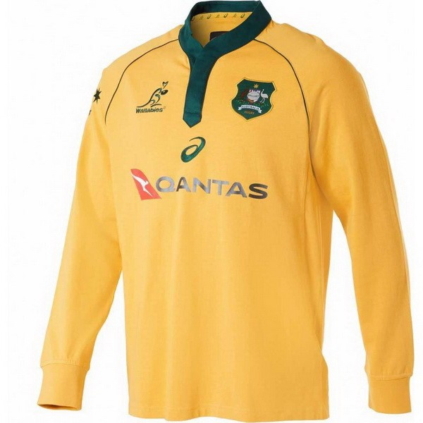 Camiseta Australia 1ª ML 2018 Amarillo