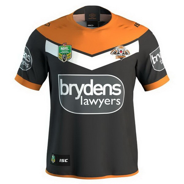 Camiseta Wests Tigers 1ª 2018 Negro