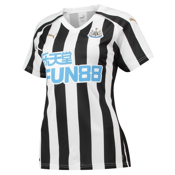 Camiseta Newcastle United 1ª Mujer 2018/19 Blanco Negro