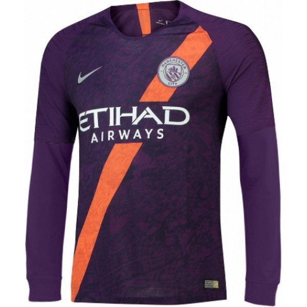 Camiseta Manchester City 3ª ML 2018/19 Purpura
