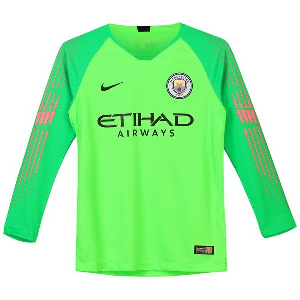 Camiseta Manchester City ML Portero 2018/19 Verde