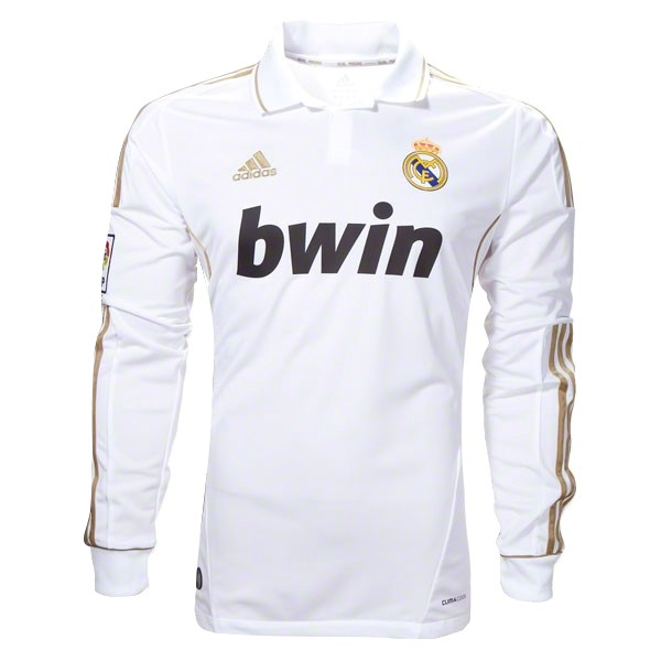 Camiseta Real Madrid 1ª ML Retro 11 12 Blanco