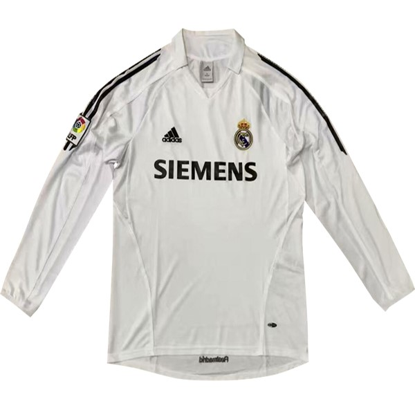 Camiseta Real Madrid 1ª ML Retro 5 6 Blanco