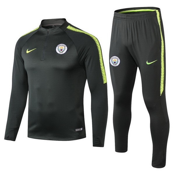 Chandal Niños Manchester City 2018/19 Verde Marron