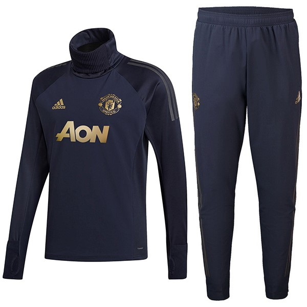Chandal Niños Manchester United 2018/19 Azul Oro
