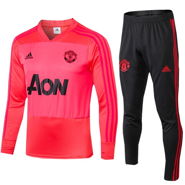 Chandal Manchester United 2018/19 Rojo Claro Negro