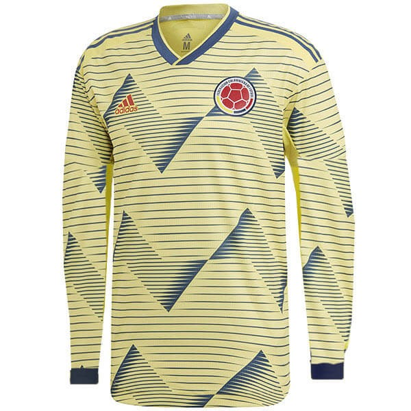 Camiseta Colombia 1ª ML 2019 Amarillo
