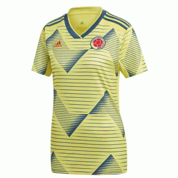 Camiseta Colombia 1ª Mujer 2019 Amarillo