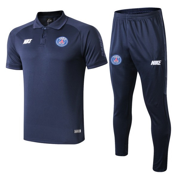 Polo Conjunto Completo Paris Saint Germain 2019/20 Azul