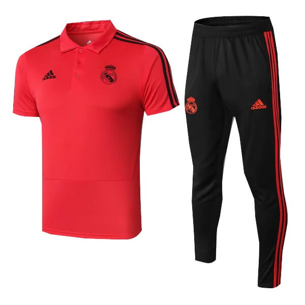 Polo Conjunto Completo Real Madrid 2018/19 Rojo