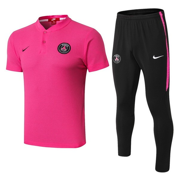Polo Conjunto Completo Paris Saint Germain 2018/19 Rosa Negro