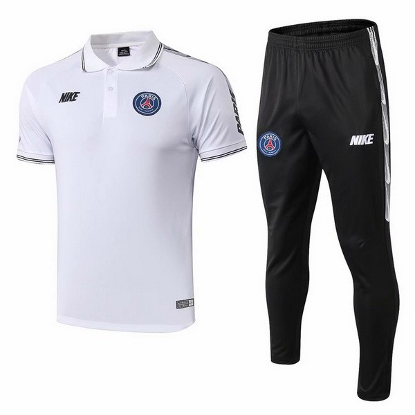 Polo Conjunto Completo Paris Saint Germain 2019/20 Blanco