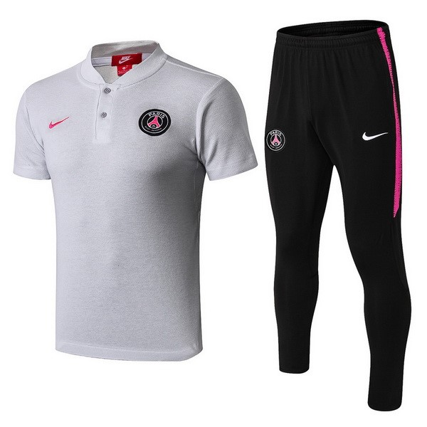 Polo Conjunto Completo Paris Saint Germain 2018/19 Negro Rosa