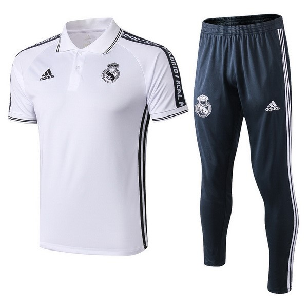Polo Conjunto Completo Real Madrid 2019/20 Blanco