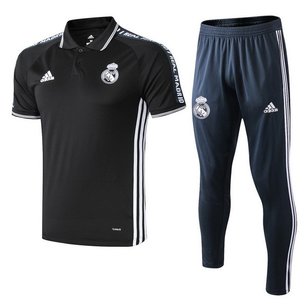 Polo Conjunto Completo Real Madrid 2019/20 Negro