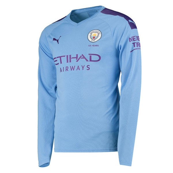 Camiseta Manchester City 1ª ML 2019/20 Azul