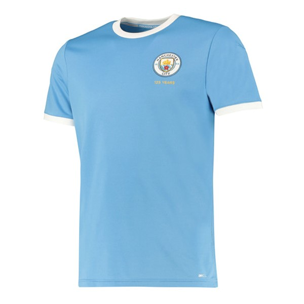 Camiseta Manchester City 125th Azul Claro