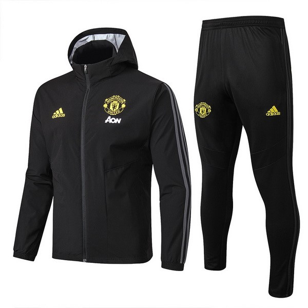 Rompevientos Manchester United Conjunto Completo 2019/20 Negro