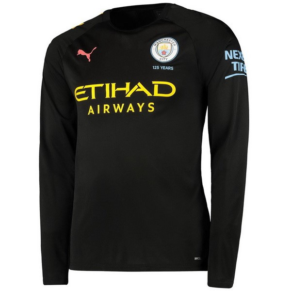 Camiseta Manchester City 2ª ML 2019/20 Negro