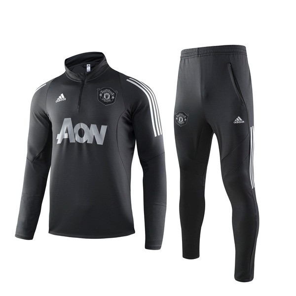 Replicas Chandal Manchester United 2019/20 Negro Gris