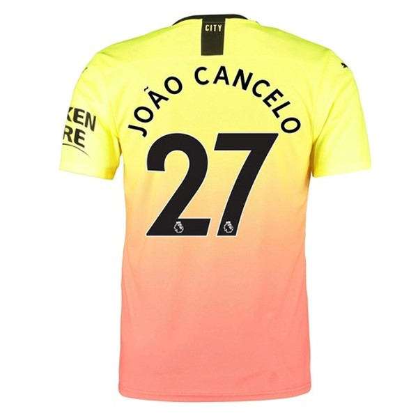 Camiseta Manchester City NO.27 Cancelo 3ª 2019/20 Naranja