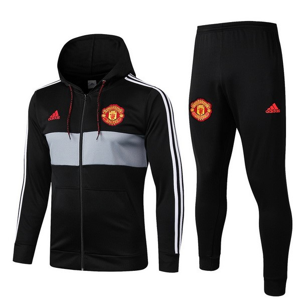 Replicas Chandal Manchester United 2019/20 Negro Rojo Gris