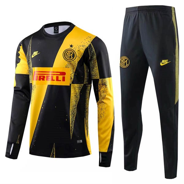 Chandal Inter 2019/20 Negro Amarillo Rojo