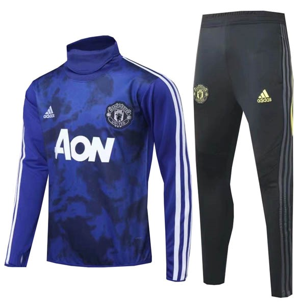 Chandal Manchester United 2019/20 Azul Negro Blanco