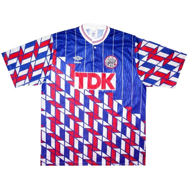 Camiseta Ajax 2ª Retro 1990 1991 Azul