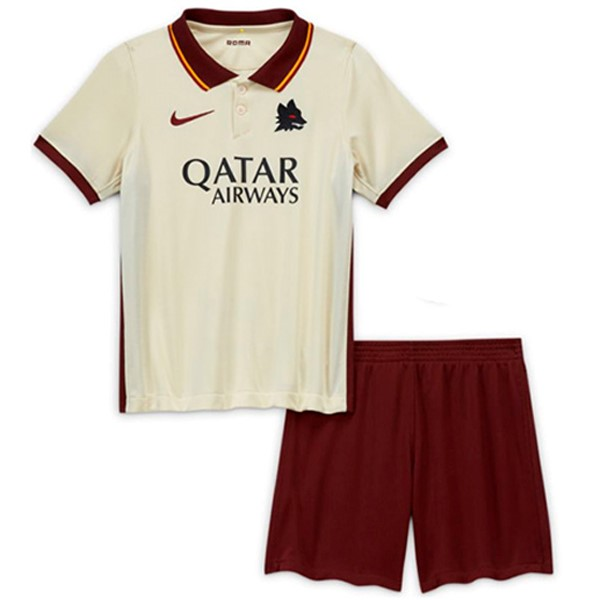 Camiseta AS Roma 2ª Niños 2020/21 Blanco