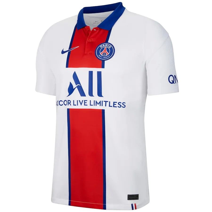 Tailandia Camiseta Paris Saint Germain 2ª 2020/21 Blanco