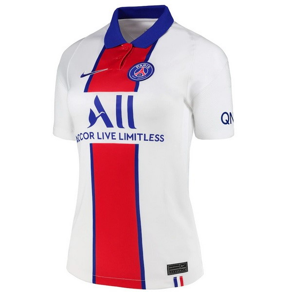 Camiseta Paris Saint Germain 2ª Mujer 2020/21 Blanco