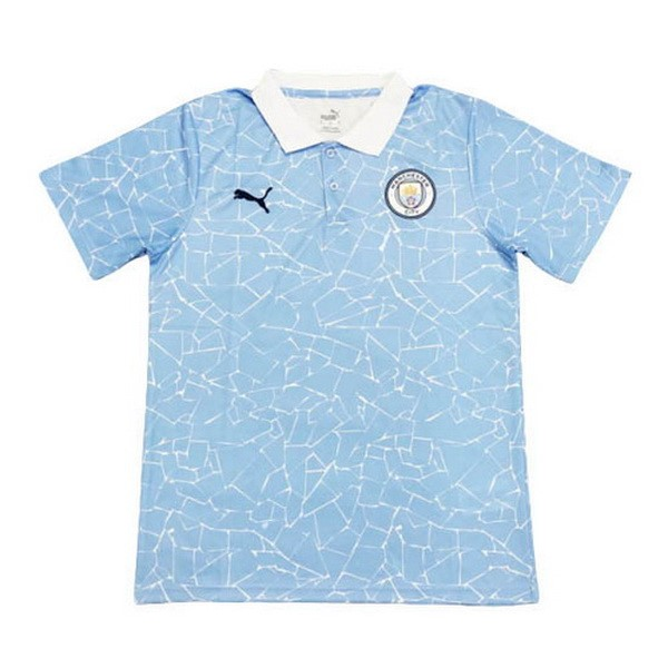 Polo Manchester City 2020/21 Azul Blanco