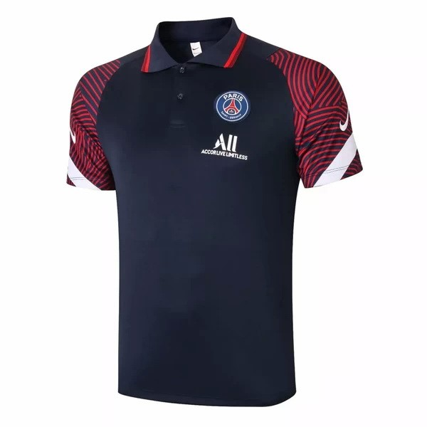 Polo Paris Saint Germain 2020/21 Azul Marino Rojo