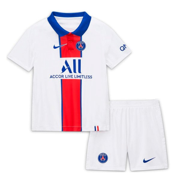 Camiseta Paris Saint Germain 2ª Niños 2020/21 Blanco