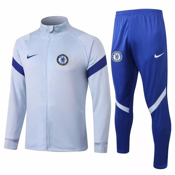 Chandal Chelsea 2020/21 Gris Claro Azul