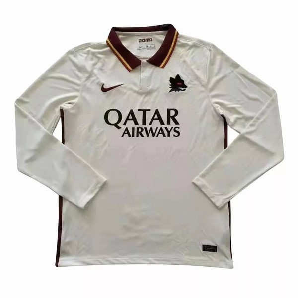 Camiseta As Roma 2ª ML 2020/21 Blanco