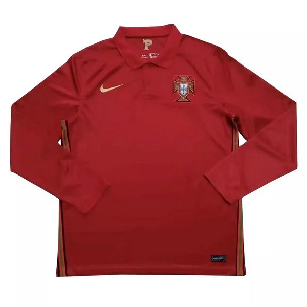 Camiseta Portugal 1ª ML 2020 Rojo