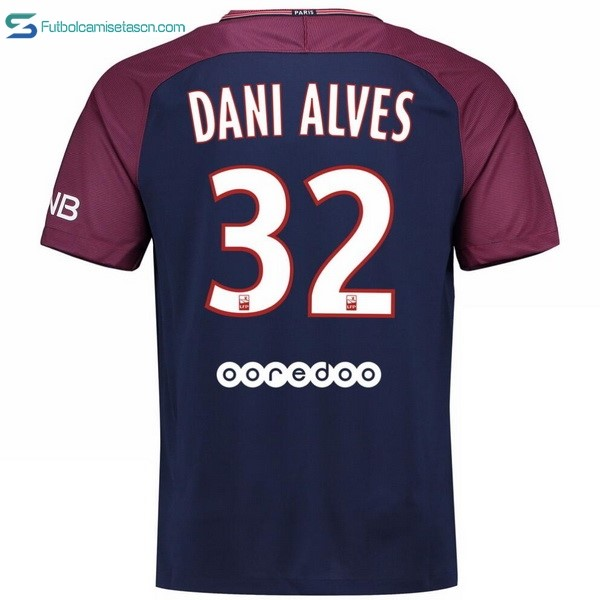 Camiseta Paris Saint Germain Alves 1ª Dani 2017/18